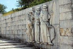 Monument der Freiheit auf Shipka-Durchlauf in Bulgarien stockbilder