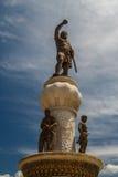 Monument in der Mitte von Skopje lizenzfreies stockbild
