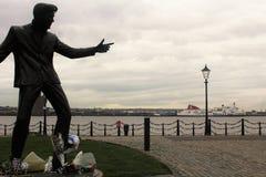 Monument in der Ufergegend von Liverpool, in Großbritannien lizenzfreie stockfotos