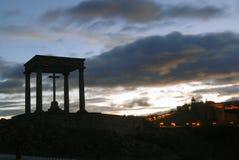 Monument der vier Beiträge in Avila Lizenzfreie Stockfotografie