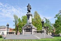 Monument des Dichters - Adam Mickiewicz Stockfoto