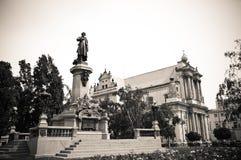 Monument des Dichters Adam Mickiewicz in Warschau Stockbild