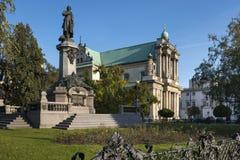 Monument des großen polnischen Dichters Adam Mickiewicz in Warschau Stockbild