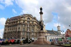 Monument des polnischen Dichters Adam Mickiewicz in Lemberg Lizenzfreie Stockfotografie