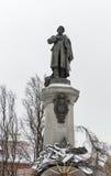 Monument des polnischen Dichters Adam Mickiewicz in Warschau, Polen Stockbilder