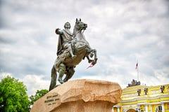 Monument des russischen Kaisers Peter der Große, bekannt als die Bronze Stockbilder