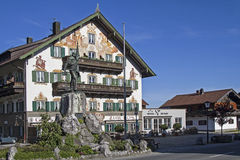Monument des Schmiedes von Kochel Lizenzfreies Stockfoto