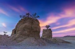 Monument of desert, Eilat, Israel Stock Image