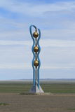Monument in the Desert Gobi Stock Photography
