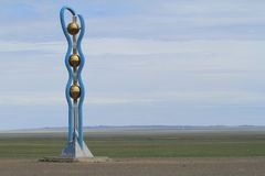 Monument in the Desert Gobi Stock Photos