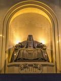 Monument, die een gezette Genghis Khan afschilderen royalty-vrije stock afbeeldingen