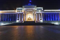 Monument, die een gezette Genghis Khan afschilderen royalty-vrije stock foto