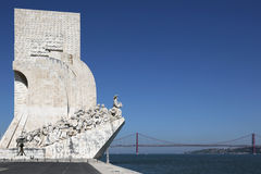 Monument for the discoverers in Lisbon Portugal Royalty Free Stock Photography