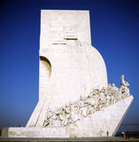Monument of Discoveries. In Lisbon, Portugal, side view with people Royalty Free Stock Images