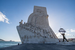 Monument of the Discoveries in Lisbon Stock Photo