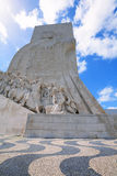 Monument of the Discoveries in Lisbon. Royalty Free Stock Images