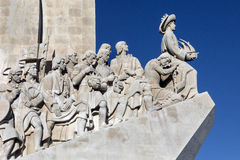 Monument of the Discoveries - Lisbon - Portugal. Monument of the Discoveries, Lisbon, Portugal - a monument on the northern bank of the Tagus River estuary, in Royalty Free Stock Photography