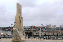 Padrão dos Descobrimentos in Lisbon, Portugal. A monument of the Discoveries Padrão dos Descobrimentos, a monument on the northern bank of the Tagus River Stock Photo