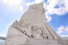 Monument of the Discoveries in Lisbon. The Monument of the Discoveries Padrao dos Descobrimentos in Lisbon, Portugal Royalty Free Stock Photos