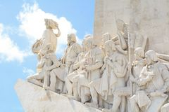 Monument of the Discoveries in Lisbon. Royalty Free Stock Photos