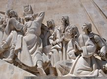 Monument of discovery detail in Lisbon - Portugal