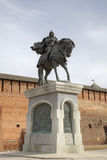 Monument of Dmitry Donskoy Royalty Free Stock Photography