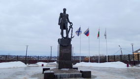 Monument of Dmitry Senyavin in Borovsk Stock Photography