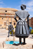 Monument of Don Quixote and Dulcinea in El Toboso Stock Photography