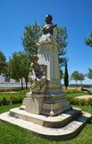 The monument of Dr. Barahona in the Garden of Diana. Evora. Portugal. The monument of Dr. Francisco Eduardo de Barahona Fragoso in the Garden of Diana. Evora stock photos