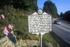 Monument du Général Robert E Les sièges sociaux de Lee sur la route scénique USA conduisent 60, WV Images libres de droits