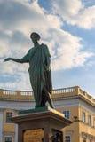 Monument of duke Richelieu on seaside boulevard in Odessa center Stock Photos