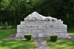 Monument of a dying lion near Fleury Royalty Free Stock Images
