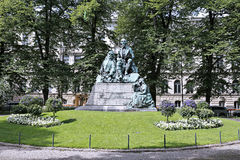 Monument Elias Lönnrot, the collector of folk poetry Royalty Free Stock Image