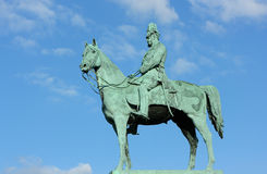The monument of Emperor Wilhelm I Royalty Free Stock Images