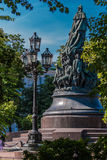 The monument of empress Catherine II Stock Images