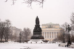 The monument of empress Catherine II Stock Photo