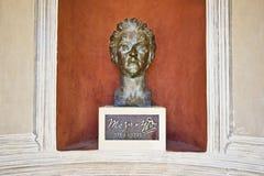 Monument en bronze à Mozart dans Kurpark Photographie stock