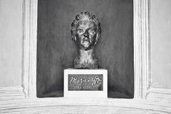 Monument en bronze à Mozart dans Kurpark Photo libre de droits