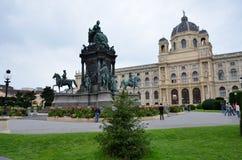 Monument en de historische bouw in Wenen Stock Foto's