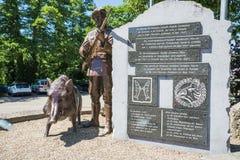 Monument en l'honneur de mars européen pour le souvenir et l'amitié Image stock