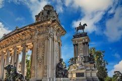 Monument en Parque del Buen Retiro Photographie stock libre de droits
