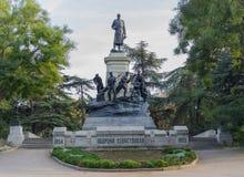Monument engineer Totleben in Sevastopol Stock Photography