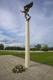 Monument at the entrance of the Henri Chapelle american cemetary Stock Photography