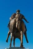 Monument. The Equestrian Monument of Marcus Aurelius in Rome stock photo