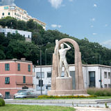 Monument. Erected near the roundabout of Piazzale Kennedy in Genoa Stock Images