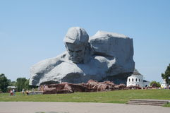 The monument established about honour of soldiers protecting Brest fortress in 1941 Stock Images