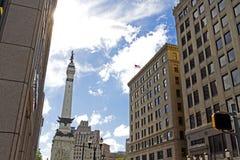 Monument et paysage urbain, Indianapolis, DEDANS Photos libres de droits