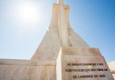 Monument for explorers in belem lisbon lisboa portugal. stock photo