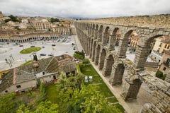 monument för århundradet för 1st annonsaquaduct bevarade bäst byggda iberian vänstra half mest en halvö roman romans second segov Fotografering för Bildbyråer