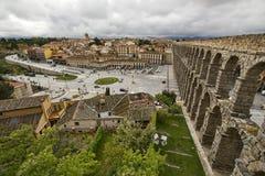 monument för århundradet för 1st annonsaquaduct bevarade bäst byggda iberian vänstra half mest en halvö roman romans second segov Arkivfoto